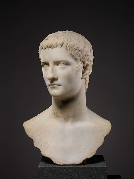 Marble portrait bust of the emperor Gaius, known as