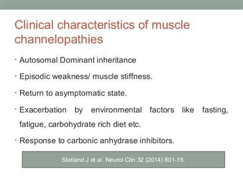 Muscle channelopathies