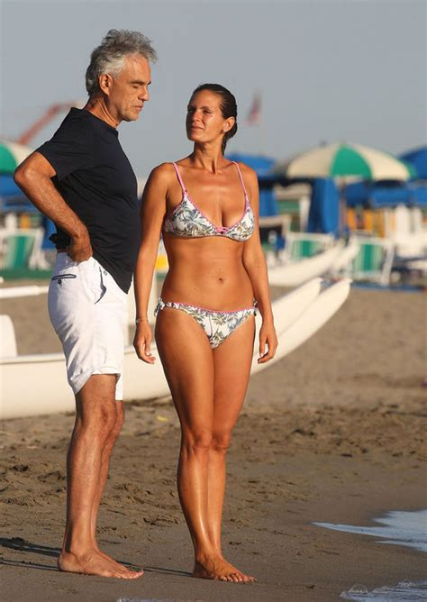 Andrea Bocelli, 58, relaxes with bikini-clad wife Veronica