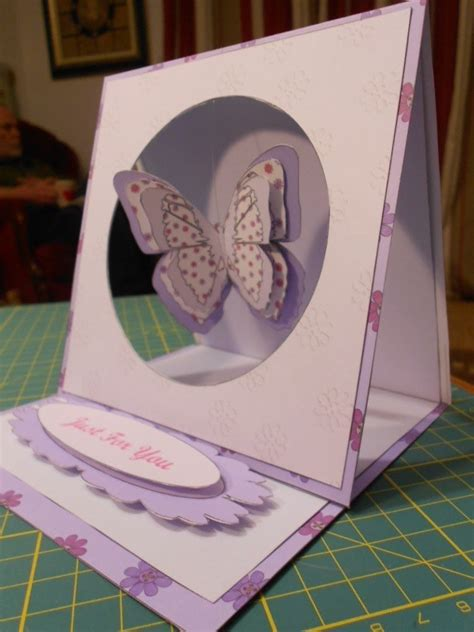 Butterfly Hanging Easel Card · How To Make A Greetings