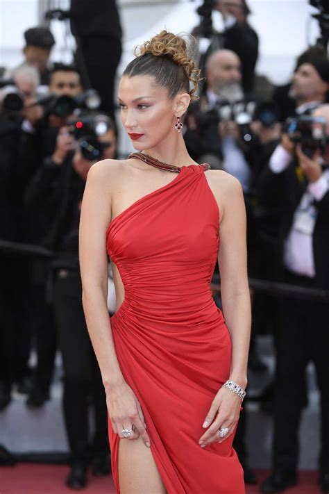 Bella Hadid Attends the Pain and Glory Red Carpet During