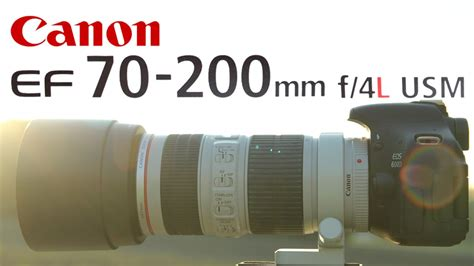Canon 70-200 f/4 L IS Review - YouTube