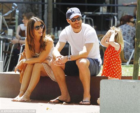 Xabi Alonso enjoys a day out with his family in Madrid