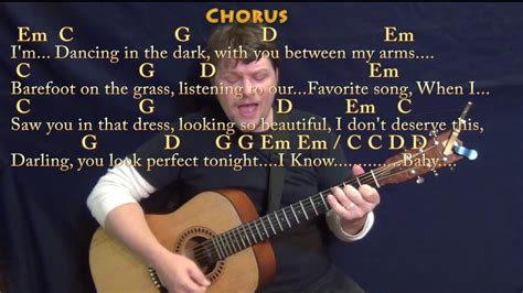Perfect (Ed Sheeran) Strum Guitar Cover Lesson in G with