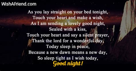 As you lay , Good Night Poem